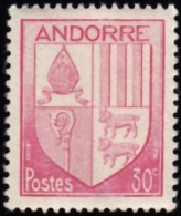 ANDORRA - Scott #79 Coat Of Arms (*) / Mint NH Stamp - French Andorra