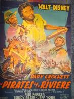 Affiche Cinéma 1956 DAVY CROCKETT PIRATES DE LA RIVIERE - Affiches