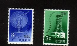 RYU-KYU 1964 RADIO-DIFFUSION  YVERT N°119/20  NEUF MLH* - Ryukyu Islands