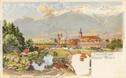 Innsbruck Kloser Wilten - Strützel's KünstlerKarte Serie II N°38, Gesetzl - Carte Précurseur Non Circulée - Innsbruck