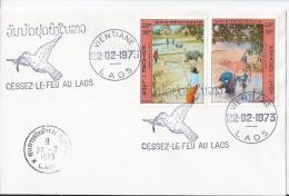 Vietnam Royaume Du Laos  Fdc 1973 - Laos