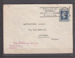 Lettre PUB De AMSTERDAM  Annee 1946       Pour BORDEAUX      Timbre   SEUL Sur LETTRE  Flamme 6 JULI.AS - 1891-1948 (Wilhelmine)