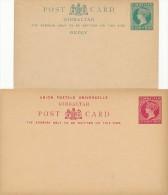 GIBRALTAR - 1889/90  , 3 Ganzsachen ,  Post Cards - Gibraltar