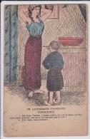 """ILLUSTRATEUR Inconnu GAULOISERIES FRANÇAISES """" INNOCENCE"""" (Jeune Femme & Enfant) - Illustrateurs & Photographes"""