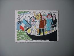 GIRONDE LE CAP FERRET SOUVENIR DE CROISIERE SIGNE BERNARD ALDEBERT - France