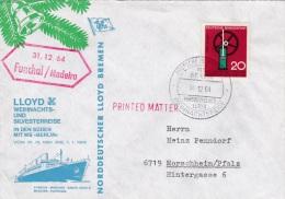 Ship Cover: M/S Berlin Wiechnacht- Und Silversterreise P/m Funchal/Madeira 31.12.1964  (SKO1-13) - Ships
