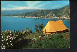 """P4912 SERIE """"SICILIA PITTORESCA"""" GIARDINI, MESSINA  - VIAGGIATA 1963 - Messina"""