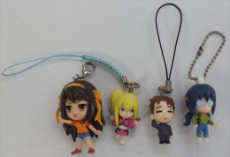 4 Japanese Strap Figurines ( Used ) - Charms