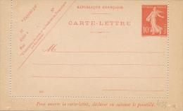 FRANCE - 1906 , Kartenbrief , CARTE-LETTRE - Ganzsachen