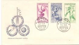 CZECHOSLOVAKIA PRAHA 1958 (F160008) - Giochi Olimpici