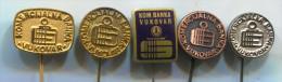 BANK BANQUE BANCA - KOMERCIJALNA BANKA Vukovar Croatia, Vintage Pin, Badge, 5 Pieces - Banken