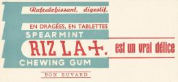 BUVARD CHEWING GUM RIZ LA + - Blotters