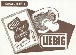 BUVARD LIEBIG - POTAGE VELOUTE DE CHAMPIGNONS. - Unclassified