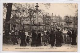 75008 PARIS  Scènes Parisiennes  - Aux Champs Elysées: Les Chevaux De Bois - Champs-Elysées