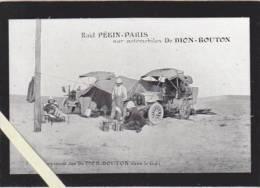 Raid Paris Pekin Automobiles De Dion Bouton -  5 Le Campement Des De Dion Dans Le Désert De Gobi - Voitures De Tourisme