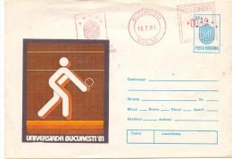 BUCAREST SERIA VOLLEY BALL 1981 AIR MAIL FULL POST (F160023) - Pallavolo