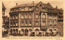 CPA - COLMAR (68) - Vue Du Café-Restaurant-Hôtel De France (Eugène Bauer , Propriétaire) - Colmar