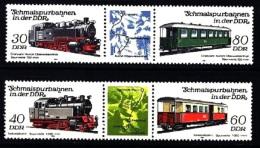 DDR Zweierstreifen Zdr.  Mi. 2864/7 Schmalspurbahn IV   **/MNH - [6] Democratic Republic