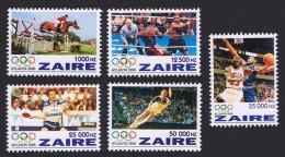 ZAIRE 1996 - Hippisme, Boxe, Jeux Olympics Atlanta 96 - 5 Val ** Neufs // Mnh - Zaïre