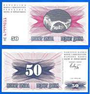 Bosnie Herzegovine 50 Dinars 1992 Surimprime 50000 Dinars 1993 Vert Dinara Yougoslavie Bosnia Herzegovina Paypal Skrill - Bosnia Y Herzegovina