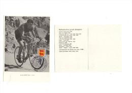 Cyclisme  - Tour De France Cycliste 1984 - Pau - Cycling - Vélo - Bobet  (carte Postale) - Cyclisme