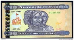 ERITREA : 100  Nafka - 2004 - UNC - Eritrea