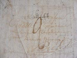 Lettre 10 Decembre 1820 Marque Postale Versailles 1820 Adressée à Carette Capitaine Au Corps Royal Du Génie Paris  M1 - Marcophilie (Lettres)