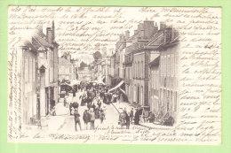 CHATILLON EN BAZOIS : La Rue Du Commerce Un Jour De Foire. Dos Simple. 2 Scans. - France