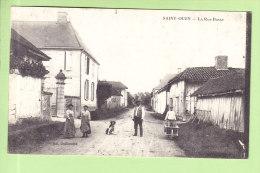 SAINT OUEN : La Rue Basse Animée. 2 Scans. Edition Guillaume - France