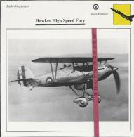 Vliegtuigen.- Hawker High Speed Fury - Jachtvliegtuigen. -  Groot-Brittannië - Vliegtuigen