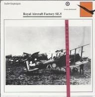 Vliegtuigen.- Royal Aircraft Factory SE.5 - Jachtvliegtuigen. -  Groot-Brittannië - Vliegtuigen