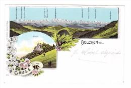 AK BL Belchen Gruss Vom Litho Gebr. Metz #6948 Ges. 25.8.1901 Langenbruck Nach Riehen - BL Bâle-Campagne
