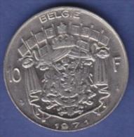 BELGIQUE  BAUDOUIN  10 FRANCS  NICKEL PUR  ANNEE 1971 (flamande)  LOT N °26 - 1951-1993: Baudouin I