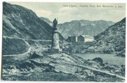 Valle D'Aosta Ospizio Gran San Bernardo Com Stampa Albergo Grand St. Bernard C, 1908 - Italy
