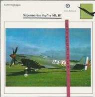 Vliegtuigen.- Super Marine Seafire Mk III - Jachtvliegtuigen. -  Groot-Brittannië - Vliegtuigen