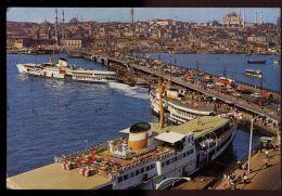 B1030 ISTANBUL - GALATA BRIDGE, NEW MOSQUE AND SULEYMANIYE - Turchia
