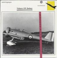 Vliegtuigen.- Vickers 151 Jockey - Jachtvliegtuigen. -  Groot-Brittannië - Vliegtuigen