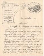 A.Cubat - Grand Hôtel De La Paix - Pau  Place Royale - Lettre - Old Paper