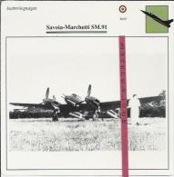 Vliegtuigen.- Savoia-Marchetti SM.91 - Jachtvliegtuigen. -  Italië - Vliegtuigen
