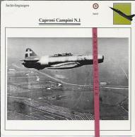 Vliegtuigen.- Caproni Campini N.1 - Jachtvliegtuigen. -  Italië - Vliegtuigen