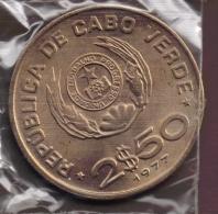 CABO VERDE 2,5 ESCUDOS 1977 FAO KM# 18 - Cape Verde