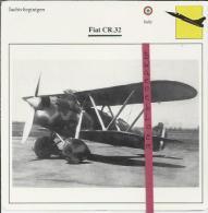 Vliegtuigen.- Fiat CR.32 - Jachtvliegtuigen. -  Italië - Vliegtuigen
