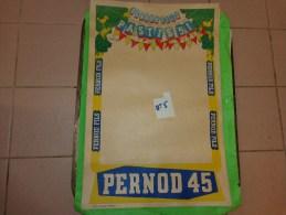 Affiche  Papier Pernod Fils -pastis 51 -pernod 45     39.5cm X 59.5 Cm Illustrateur Bellange - Publicité