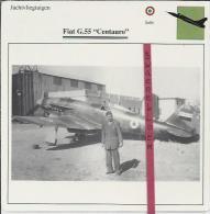 Vliegtuigen.- Fiat G.55 - Centauro - Jachtvliegtuigen. -  Italië - Vliegtuigen