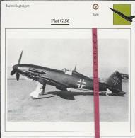 Vliegtuigen.- Fiat G.56 - Jachtvliegtuigen. -  Italië - Vliegtuigen