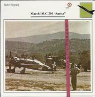 Vliegtuigen.- Macchi M.C.200 - Saetta - Jachtvliegtuigen. -  Italië - Vliegtuigen