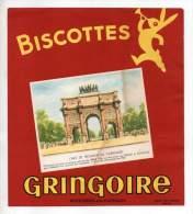 Buvard - Biscottes Gringoire - L'arc De Triomphe Du Carrousel - Biscottes