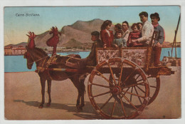 Italy Italia Italia Sicilia Carro Siciliano Horse Costume Stamp Post Card Postkarte Karte Carte Postale POSTCARD - Non Classés