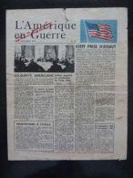 WWII WW2 Propaganda Tract L´Amérique En Guerre No 75 USF 69 Le 10 Novembre 1943 - Oude Documenten