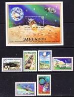 Barbados 1979 Space 6v + M/s ** Mnh (27189) - Barbados (1966-...)